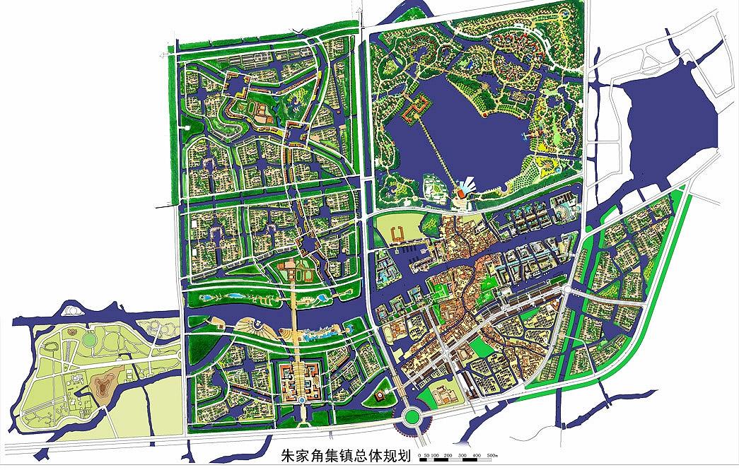 Shanghai Zhu Jia Jiao Town Planning