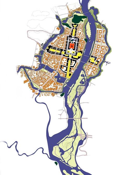 桂林城中水系规划竞图